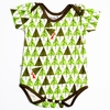 Kinder Birch, Organic Cotton Apparel, Geo Trees Short Bodysuit