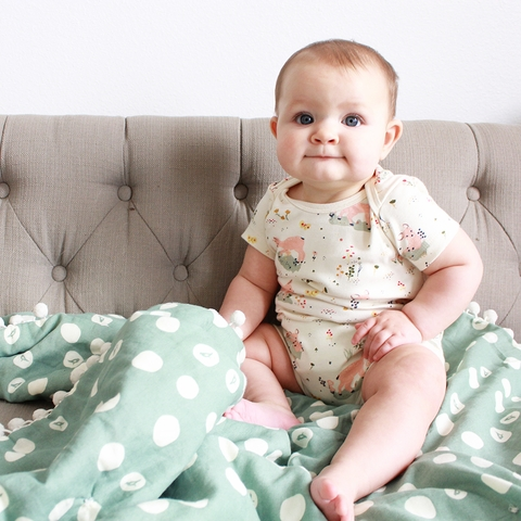 Kinder Birch, Organic Cotton Apparel, Little Deer Onesie