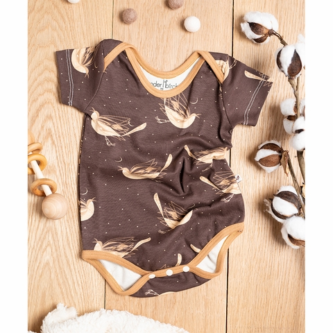 Kinder Birch, Organic Cotton Apparel, Mockingbird Short Bodysuit