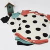 Kinder Birch, Organic Cotton Apparel, Pop Dots Black/Pool Onesie
