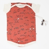 Kinder Birch, Organic Cotton Apparel, Quail Run Coral Bodysuit