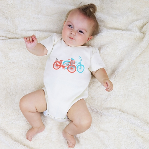 Kinder Birch, Organic Cotton Apparel, Ride Onesie