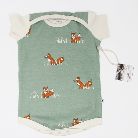 Kinder Birch, Organic Cotton Apparel, Sly Fox Onesie