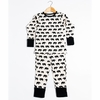 Kinder Birch, Organic Cotton Apparel, Zo Famu Black Metallic Grow With Me Pajama