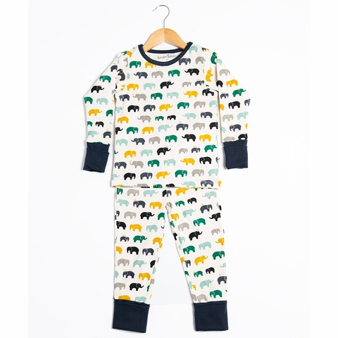 Kinder Birch, Organic Cotton Apparel, Zo Famu Boy Grow With Me Pajama