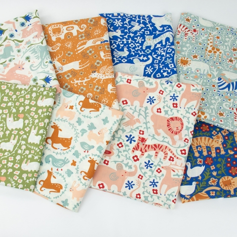 Kristen Balouch for Birch Organic Fabrics, Enchanted Kingdom Precut Fat Quarters 8 Total