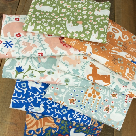 Kristen Balouch for Birch Organic Fabrics, Enchanted Kingdom, Key to the Kingdom Orange