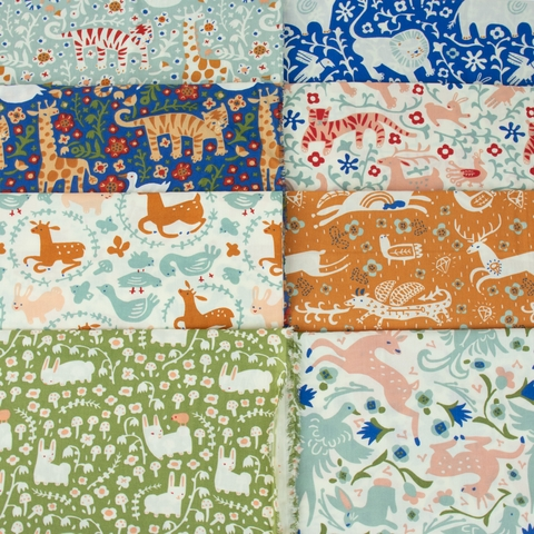 Kristen Balouch for Birch Organic Fabrics, Enchanted Kingdom, Menagerie Mineral