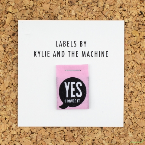 Kylie and the Machine, Woven Labels, Yes I Made It