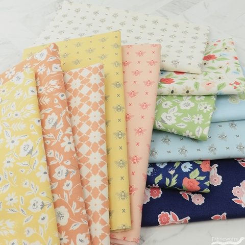 Lella Boutique for Moda, Garden Variety FAT QUARTERS 12 Total