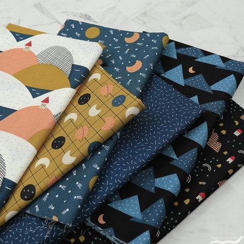 Lemonni for FIGO, Special Delivery, Evening Arrival in FAT QUARTERS 6 Total