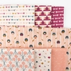 Lemonni for FIGO, Treehouse, Pink in FAT QUARTERS 7 Total