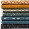 Lemonni for FIGO, Treehouse, Teal in FAT QUARTERS 7 Total
