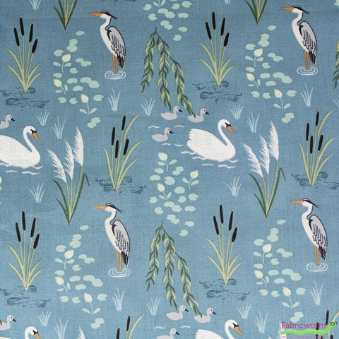 Lewis & Irene, Down By The River, Swan and Heron Teal