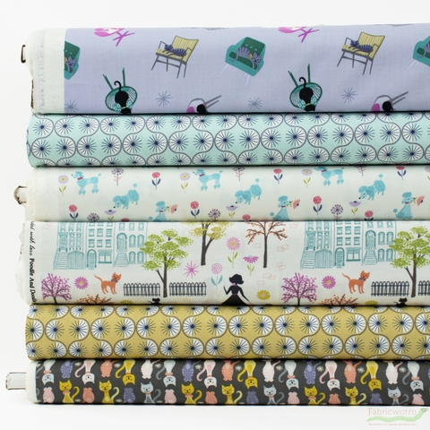 Lewis & Irene, Poodle & Doodle in FAT QUARTERS 6 Total