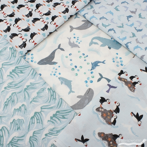 Lewis & Irene, Spindrift, Twirling Dolphins Blue