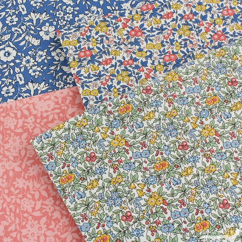 Liberty London Fabrics, Cottage Garden, Daisy Shadow Pink