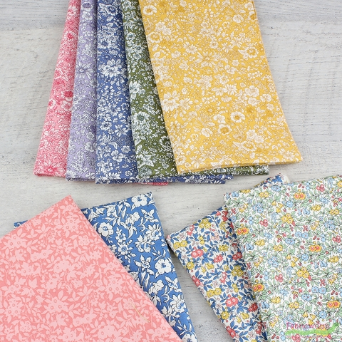 Liberty London Fabrics, The English Garden, Emily Silhouette Pink