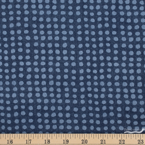 Libs Elliot for Andover, Almost Blue, Dot Indigo Fat Quarter