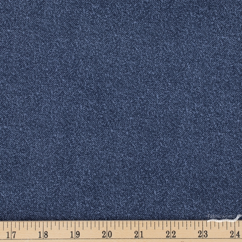 Libs Elliot for Andover, Almost Blue, Raw Rinsed Fat Quarter