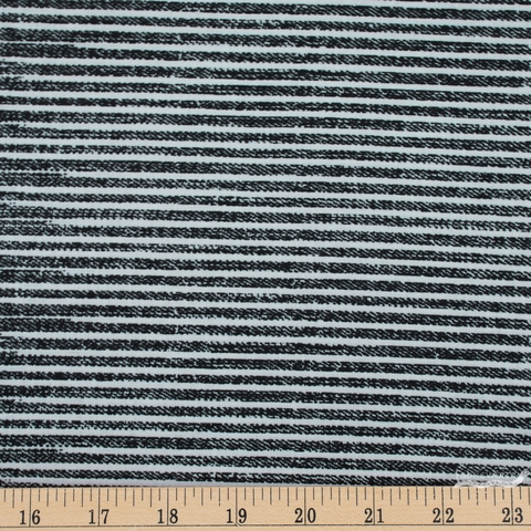 Libs Elliot for Andover, Almost Blue, Stripe Asphalt Fat Quarter