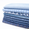 Libs Elliot for Andover, Almost Blue, Vintage in FAT QUARTERS 8 Total