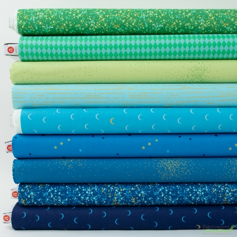 Libs Elliot for Andover, Greatest Hits Vol 1 Metallic, Tide Pool in FAT QUARTERS 9 Total (PRECUT)