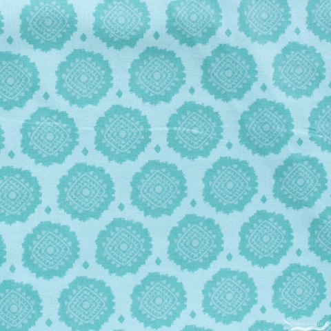 Lisa Whitebutton for 3 Wishes, Painted Soul, Tonal Medallions Turquoise