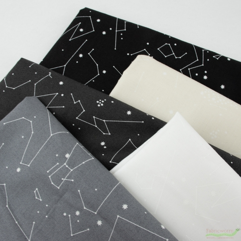 Lizzy House for Andover, Constellations, Silver Lining in FAT QUARTERS 5 Total