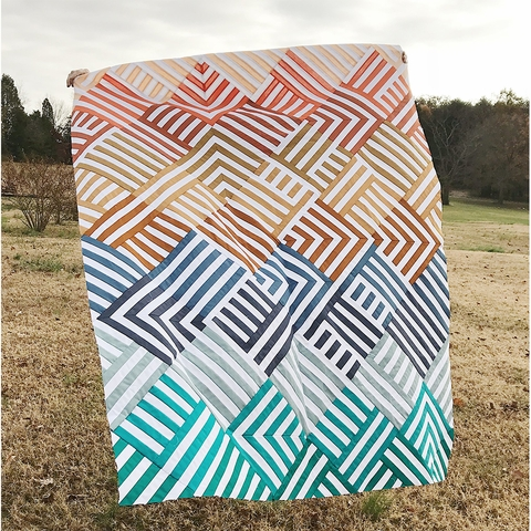 Lo & Behold Stitchery, Sewing Patterns, Interwoven Quilt