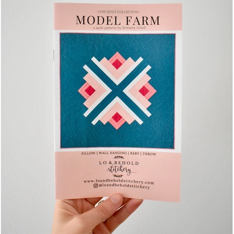 Lo & Behold Stitchery, Sewing Patterns, Model Farm Quilt
