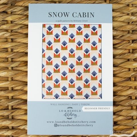 Lo & Behold Stitchery, Sewing Patterns, Snow Cabin Quilt