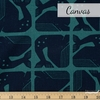 Loes van Oosten for Cotton and Steel, By The Seaside Canvas, Grumpy Whale Blue