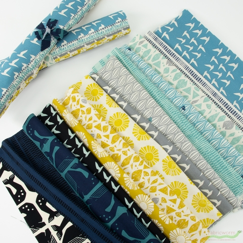 Loes van Oosten for Cotton and Steel, By The Seaside, Entire Collection PRE-CUT Fat Quarter Fabric Roll