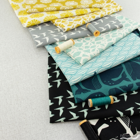 Loes van Oosten for Cotton and Steel, By The Seaside, Grumpy Whale Black