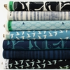 Loes van Oosten for Cotton and Steel, By The Seaside, Tide in FAT QUARTERS 7 Total