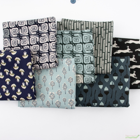 Loes Van Oosten for Cotton and Steel, In The Woods PRE-CUT in FAT QUARTERS 18 Total