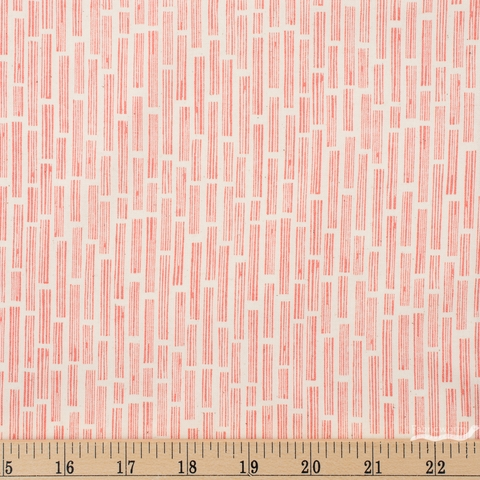 Loes Van Oosten for Cotton and Steel, In The Woods, Wood Grain Peach Fat Quarter