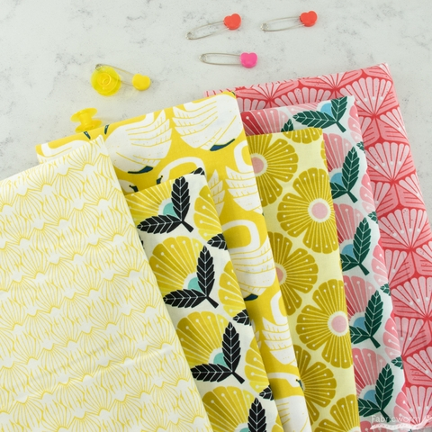Loes Van Oosten for Cotton + Steel, On A Spring Day, Blooming Daisy Sunrise