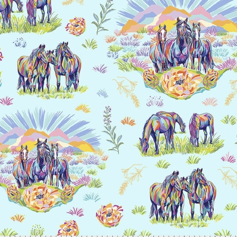Lorraine Turner for Free Spirit, Calico Horses Bundle 6 Total