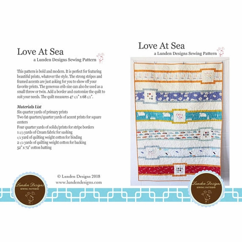 Love At Sea Quilt Kit Featuring Summer '62