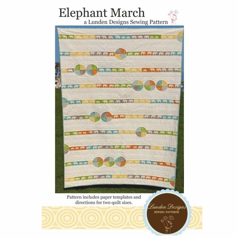 Lunden Designs, Sewing Pattern, Elephant March Quilt