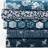 Makower UK, Indigo, Blue in FAT QUARTERS 5 Total (PRECUT)