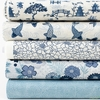 Makower UK, Indigo, Cream in FAT QUARTERS 5 Total
