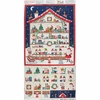 "Makower UK, Let It Snow, Santa's Workshop Advent Calendar Metallic Multi 23"" Panel"