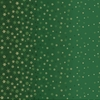 Makower UK, Ombre Snowflake Green Metallic