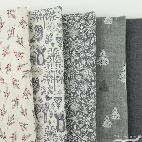 Makower UK, Scandi in FAT QUARTERS 5 Total