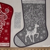 "Makower UK, Scandi, Scandi Stockings 23"" Panel"