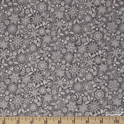 Makower UK, Scandi, Snowflakes Grey