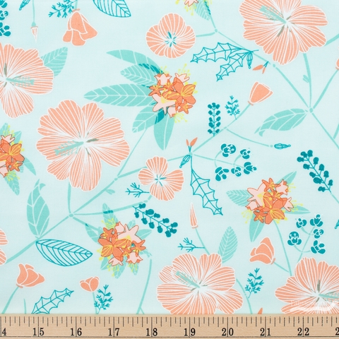 Mara Penny for Moda, Pacific Wanderings, Floral Fog